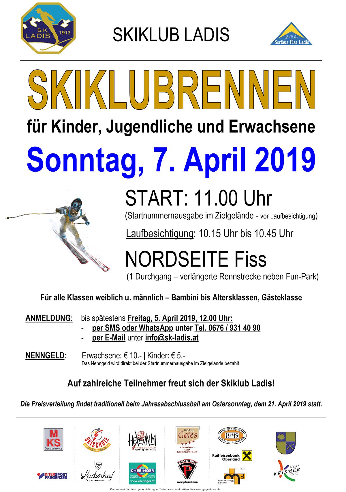 Skiklubrennen @ Nordseite Fiss