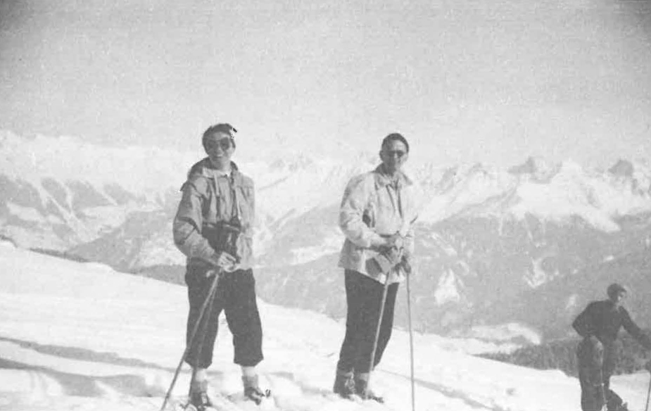 Skifahren in Serfaus-Fiss-Ladis um 1941/42