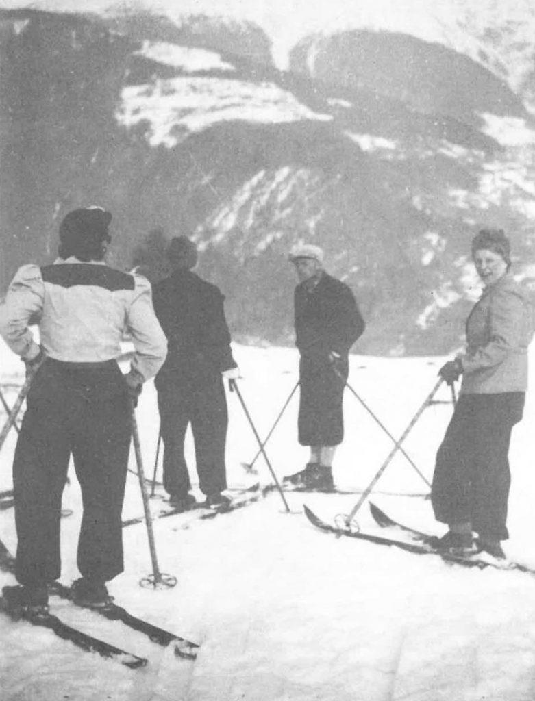 Skiunterricht in Ladis um 1941/42